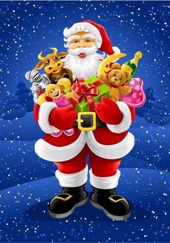 """Père Noel """"bien chargé"""""""