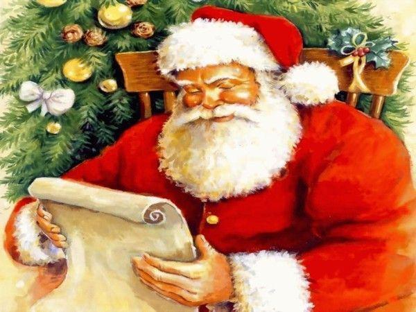 Père Noël et sa lettre