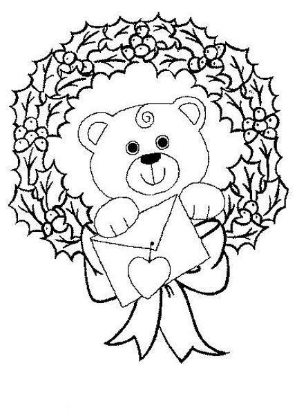 Coloriage en attendant noel - Coloriage de ours ...